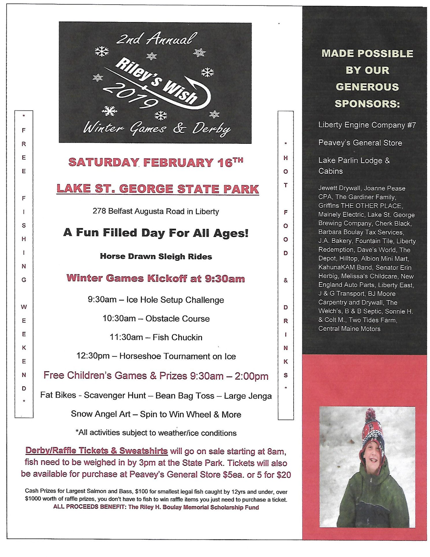 2nd Annual Riley's Wish Winter Games & Derby